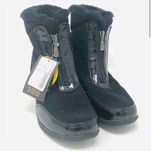 ❄️NWT Khombu Womens Lily Zip Black Winter Boots